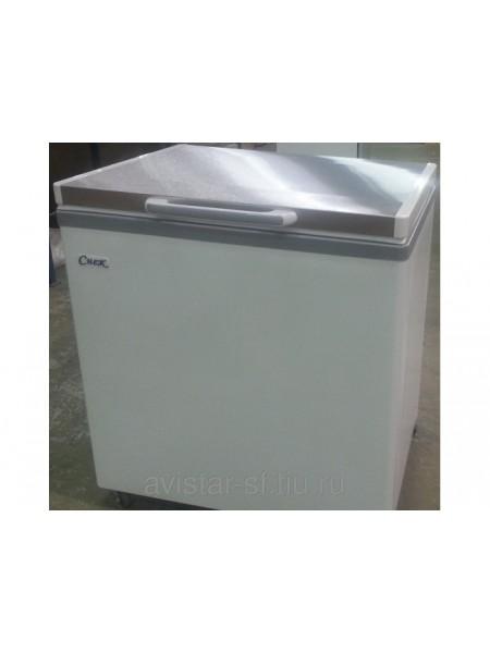 Ларь морозильный Снеж МЛК-500 нерж. крышка